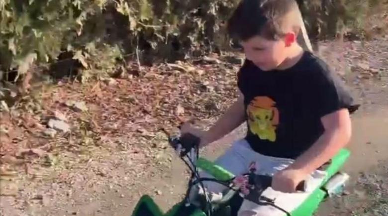 Синът на Асен Блатечки яхна мотор