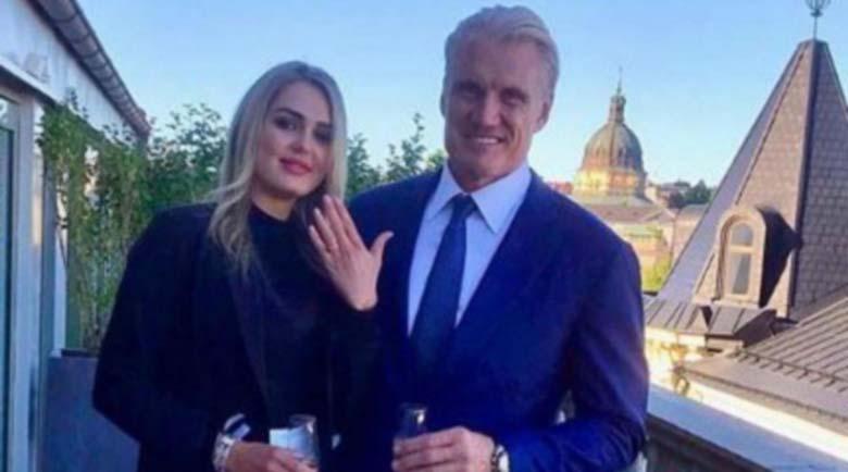 Долф Лундгрен се ожени за връстница на дъщеря си