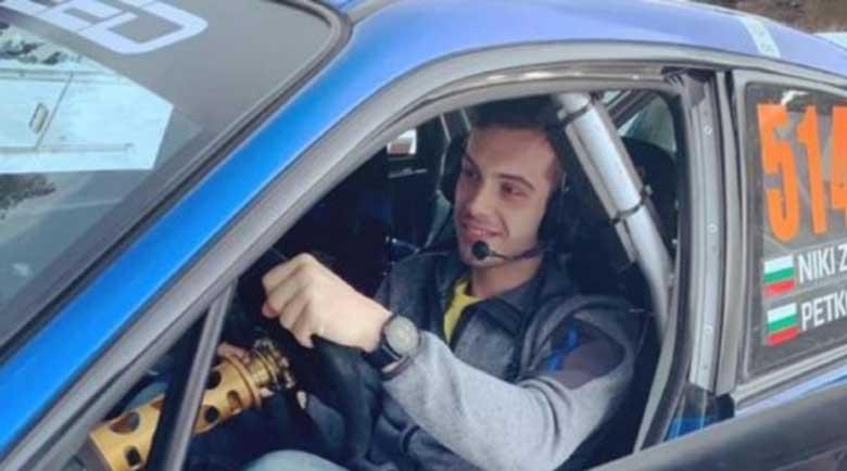 Филип Буков тренира като автомобилен състезател